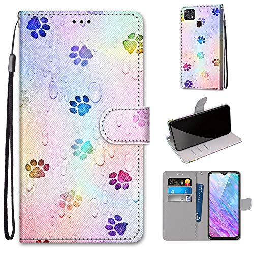 Tznzxm ZTE ZMax 10 / ZTE Z6250 Wallt Case, Lovely Painting Premium PU Leather Flip Style Cover with Kickstand and Card Holder Slots Protective Magnetic Phone Case for Consumer Cellular ZMax 10