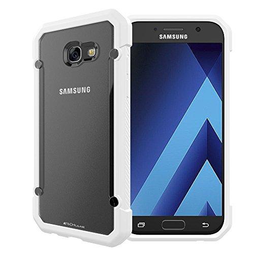 TECHGEAR Funda Compatible con Galaxy A3 2017 - [Fusion Armor] Carcasa Protección contra Las Caídas Reforzada Durable y Delgada para Samsung Galaxy A3 2017 - Blanca