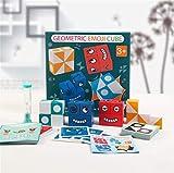 Seamuing Expression Puzzle Building Cubos, Cubos de Cambio de Cara, Puzzle Building Cubes Emoji de Madera Educativos Bloques Pensamiento Entrenamiento Lógica Rompecabezas Educativos Regalo para Niño