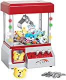 Etna The Claw Toy Grabber Machine with Lights & Sounds - Electronic Claw Toy Grabber Machine, Animation, 6 Animal Plush & Authentic Arcade Sounds for Exciting Play – with Volume Control Switch