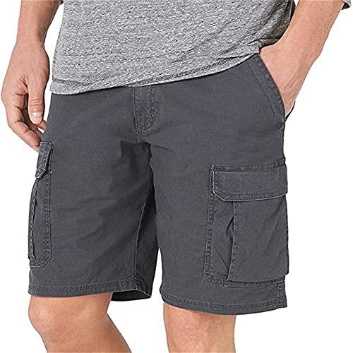 N\P Pantalones de los hombres de verano cremallera de los hombres de resistencia, Gris2, X-Large