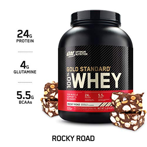 Optimum Nutrition Gold Standard 100% Whey Protein Powder Rocky Road 5 Pound Packaging May Vary