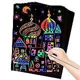 ZMLM Art and Craft Gift for Kids: Rainbow Scratch Art Magic...