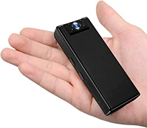 Reinno Mini Body Camera Personal Body Cameras with Audio and Video Wearable Small Bodycam Camera Pocket Camcorder with 32GB SDCard HD 1080P Mini Portable Video Recorder for Home Office Work