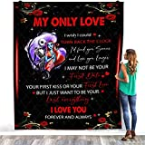My Only Love I Wish I Could Turn Back The Clock Jack Skellington Sally Blanket Nightmare Before Christmas Quilt – Warm Bed Throws – Decorating Bedrooms Home Fleece Blanket – Premium Sherpa Blanket