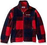 Columbia Boys' Big Zing Iii Fleece Jacket, Mountain Red Buffalo Plaid, Large