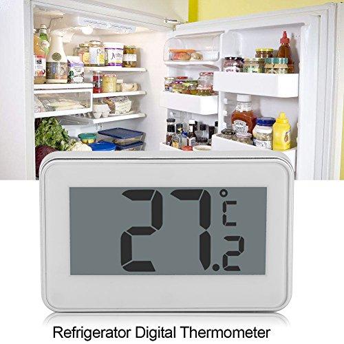 Koelkastthermometer, grote LCD-koelkast, koelkast/vriezer, digitale thermometer met verstelbare standaard en magneet voor in de keuken