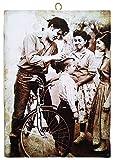 KUSTOM ART Cuadro de estilo vintage Elvis Presley que da autógrafo de colección, impresión sobre madera