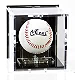 Sora Vitrine de Balle de Baseball, avec Base Noir et Panneau d'arrière Noir