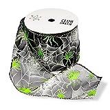 Club Green Halloween Spider Web Band, Schwarz, 60mm x