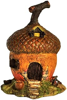Top Collection Enchanted Story Garden and Terrarium Acorn Fairy House Outdoor Decor