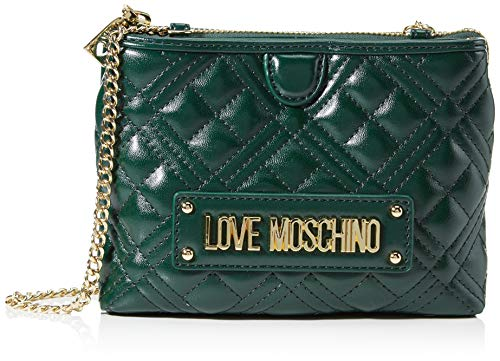 Love Moschino JC4209PP0BKA0, Borsa A Spalla Donna, Verde, Normale