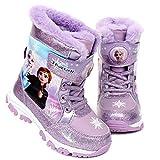 [Joah Shop] アナと雪の女王2 Frozen 2 エルサ アナ ライトアップ ピカピカ 光る靴 スノー ブーツ (19.0 cm) [並行輸入品]