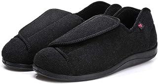 Zapatillas Ortopédica para,Zapatos de confinamiento,Zapatos para el Edema de Diabetes,Zapatos Extra Anchos conCierre fáci...