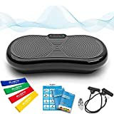 Bluefin Fitness Pedana Vibrante Ultra Slim | 5 Programmi + 180 Livelli | Altoparlanti Bluetooth | Dimensioni Ridotte | Design Made in UK | Performance Durevole (Nero)