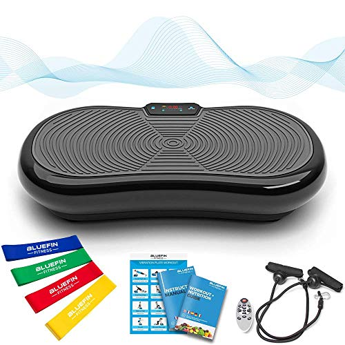 Bluefin Fitness Ultra Slim Vibration Plate | Lose Fat & Tone Up at Home | 5 Programs + 180...