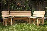 Larisa Stabil Gartentisch; unbehandeltem Erle Holz. 6 Bretter - 6