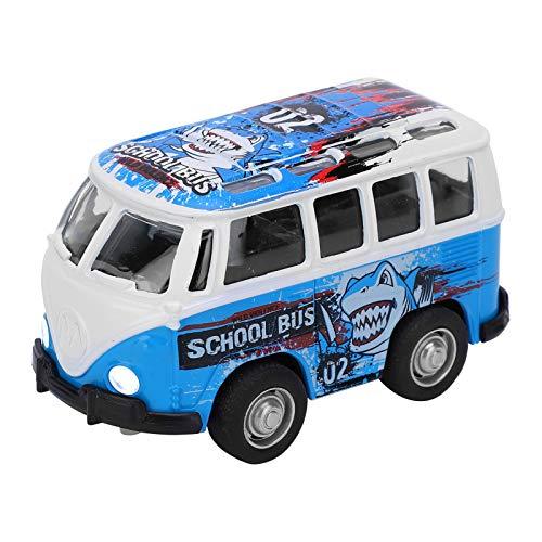 YOUTHINK Juguete Modelo de Coche para niños 1:36 Chico Mini Coche de simulación Modelo de autobús luz de Sonido de aleación Chico colección de Coches de Juguete para Regalo(Azul)