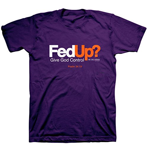 Kerusso Men's Fed Up? T-Shirt - Purple -XL