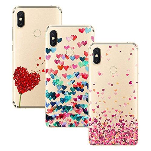 Young & Ming Xiaomi Redmi S2 Funda, [3 Pack] Carcasa Transparente Slilicona Suave TPU Gel Enjaca Xiaomi Redmi S2, Color 1