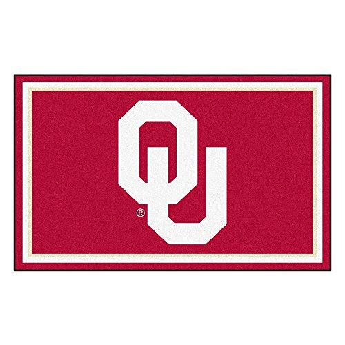 FANMATS NCAA Oklahoma Sooners University of Oklahoma4x6 Rug, Team Color, One Sized