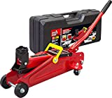 Torin T820014S Big Red Hydraulic Trolley Floor Jack with Carrying Case, 2 Ton (4,000 lb) Capacity