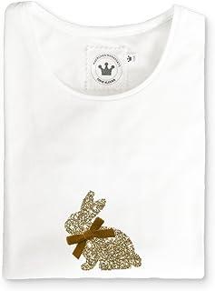 Märchenwerkstatt Mädchen T-Shirt Hase Gold Glitzer