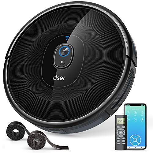 Robot Vacuum Cleaner, dser 1600pa Strong Suction, Wi-Fi Connected, Self-Charging Robotic Vacuum for...
