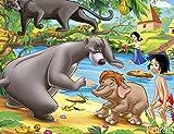 1000 piezas de rompecabezas para niños adultos, libro de la selva, cartel de película de baile de animales y niños, educación familiar, vacaciones, regalo de cumpleaños, decoración familiar, vaca