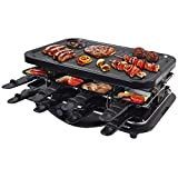 Syntrox Germany Raclette Grill Lausanne, 8 Personen, 16 Pfännchen, antihaftbeschichtet, Temperaturregelung, 1600W