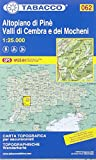 Tabacco Wandern Altopiano di Pinè. Valli di Cembra (CARTES TOPOGRAHIQ - 1/25.000)