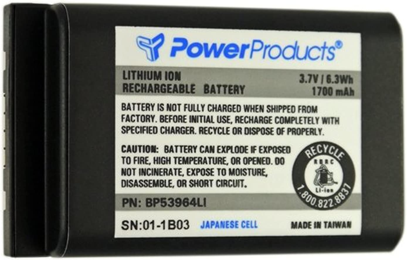 Power Products High Capacity Lithium Ion Battery for Motorola DTR Series Radios