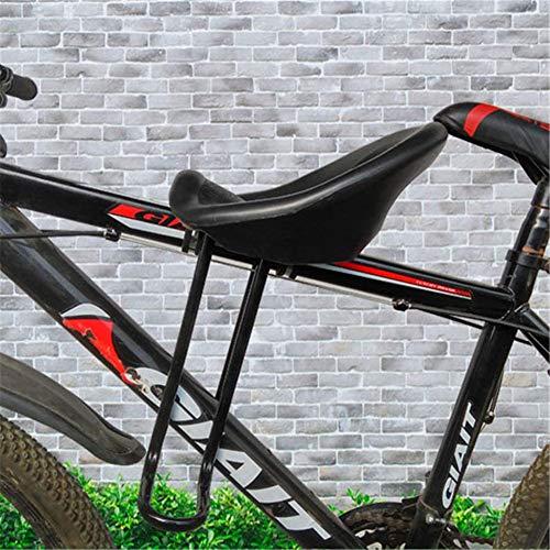 Asiento Delantero de Bicicleta de montaña para niños-Asientos Seguros para bebés de 2 a 8 años de Edad, con Pedales de pie de Respaldo sillín de Bicicleta de montaña, fácil de Instalar (D)