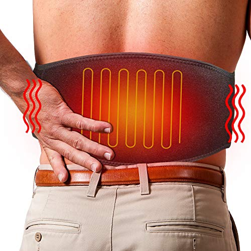 ARRIS Lower Back Heating Pad/Heating Waist Belt Wrap w/7.4V Rechargeable Battery Far...