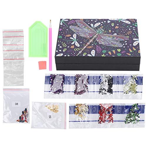 Caja de Almacenamiento de Pendientes con Pintura de Diamantes, Joyero Creativo con Pintura de Diamantes, para niños y niñas Adultos