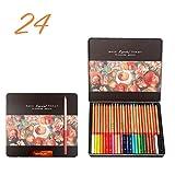 24/36/48/72/100 Colori Set Di Matite Pastelli Disegni Da Colorare Set Di Matite (Color : 24 color tin box)