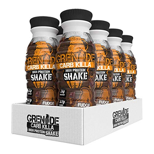 Grenade Carb Killa High Protein Shake Fudge Brownie, 8 x 330 ml