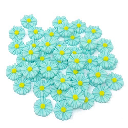 Wedding Touches Lot de 45 décorations marguerites turquoise 13 mm