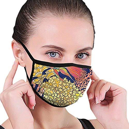 Dekorative Korallen Und Meer Oder Aquarium Fischmaske Wiederverwendbar Kann Gewaschen Werden Maske Maske Mund