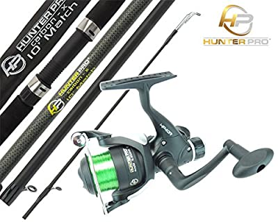 Hunter Pro® 10' Carbon-X Complete Beginners Starter Float / Match Fishing Kit Rod & NGT TZ40R Reel With Line Set from Hunter Pro