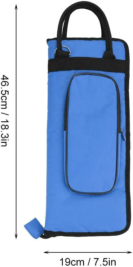 Thicken Padded Drum Stick Bag Case Water-Resistant Oxford Cloth with Strap Vbest life Drum Stick Bag