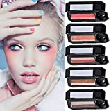 Perfect Dual-Color One Swipe Eyeshadow, 5 Color, Highly Pigmented Eyeshadow with Exquisite Matte Shimmer Glitters and Smooth Texture, Waterproof Long-Lasting Eyeshadow Palette (04Earthtones)