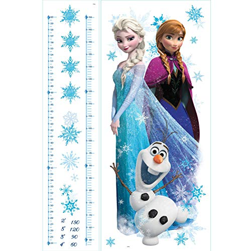 RoomMates RMK2793GC Disney Frozen Elsa, Anna And Olaf Peel And Stick Giant Growth Chart,Multicolor