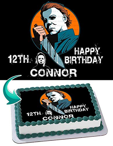 Michael Myers Edible Image Cake Topper Party Personalized 1/4 Sheet