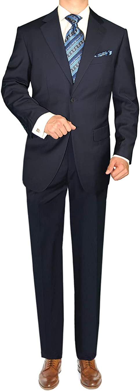 GN GIORGIO NAPOLI Men's Suit Same day shipping 2 Button Flat Front Jacket Pants Direct stock discount
