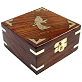 ITOS365 Handmade Wooden Jewelry Box for Women Jewel Organizer Hand Carved Gift Items