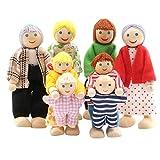 SumDirect Lot de 8 maisons de poupées en bois pour enfants et filles
