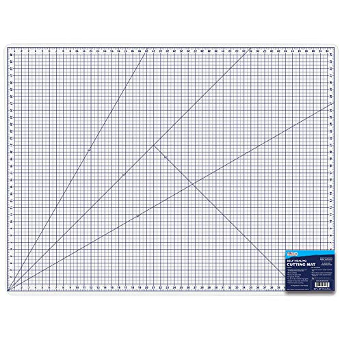 "U.S. Art Supply 36"" x 48"" WHITE/BLUE Professional Self Healing 5-6 Layer Double Sided Durable Non-Slip PVC Cutting Mat Great for Scrapbooking, Quilting, Sewing and all Arts & Crafts Projects"
