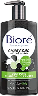 Bioré Deep Pore Charcoal Cleanser for Oily Skin (6.77 oz) Daily Face Wash, Naturally..
