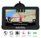 SLIMLINE SAT NAV, 7 Inch with Bluetooth + 2019 World Maps [Pre-Installed] + FREE Lifetime Map...
